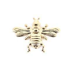 Boutonnière abeille dorée