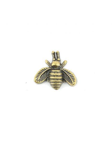 Boutonnière petite abeille bronze