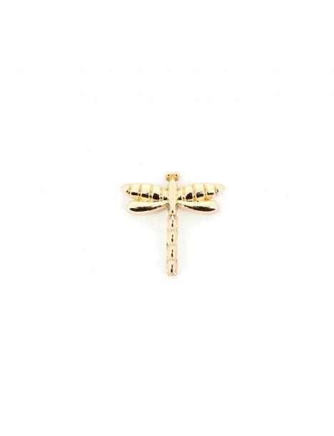 Boutonnière libellule dorée