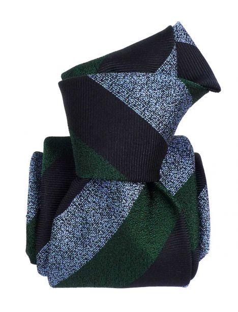 Cravate soie 6 plis, Club Vert, Faite à la main