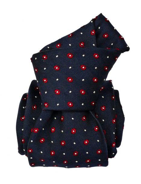 Cravate Segni Disegni LUXE, Faite main, Modene Marine