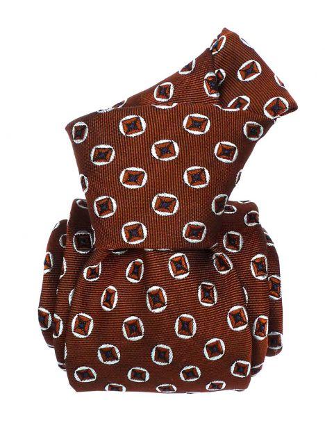 Cravate Segni Disegni LUXE, Faite main, Reggio Marron