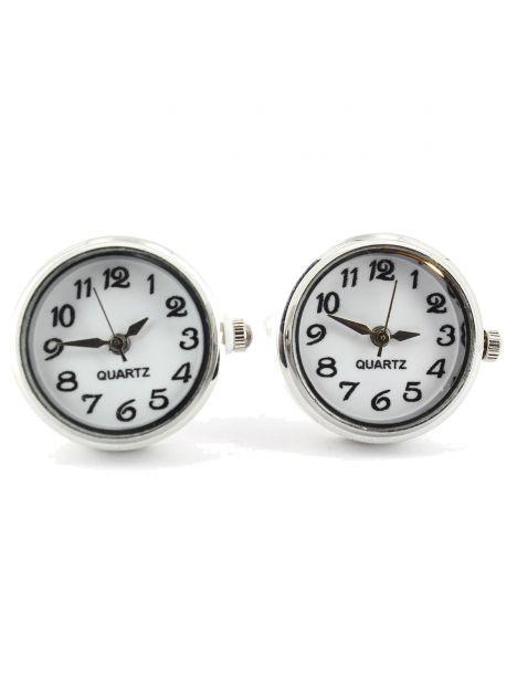 Boutons de manchette Horloge