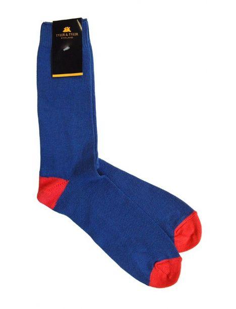 Chaussettes T&T, Bleu rouge Tyler & Tyler Chaussettes