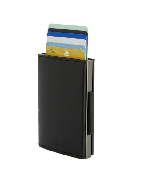 Porte carte Aluminium et cuir carbon alu titanium, Cascade Wallet, Ogon Designs Ogon Designs Petite Maroquinerie