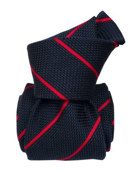 Cravate grenadine de soie, Segni & Disegni, Trevise, rouge Segni et Disegni Cravates
