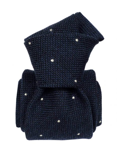 Cravate grenadine de soie, Segni & Disegni, Vicence, Bleu Segni et Disegni Cravates