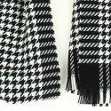 Echarpe carreaux en laine d'Australie, Midlands Noir et Blanc Tony & Paul Echarpes et chèches