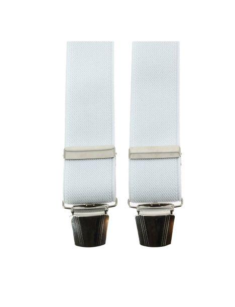 Bretelle 4 clips, blanc pur Tony & Paul Bretelles