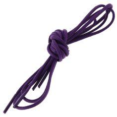 lacets ronds 2mm, coton ciré, violet digitale