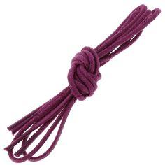 lacets ronds 2mm, coton ciré, Violet