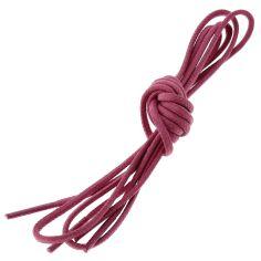 lacets ronds 2mm, coton ciré, Rose Tulipe