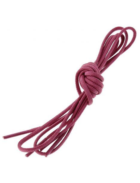 lacets ronds coton ciré couleur Rose Tulipe Les lacets Français Lacets