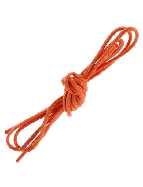 lacets ronds coton ciré couleur Mandarine Les lacets Français Lacets