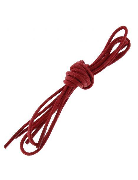 lacets ronds coton ciré couleur rouge Vermillon Les lacets Français Lacets