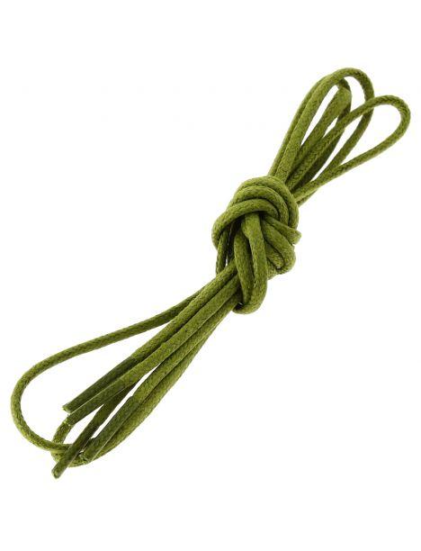 lacets ronds coton ciré couleur vert colibri Les lacets Français Lacets
