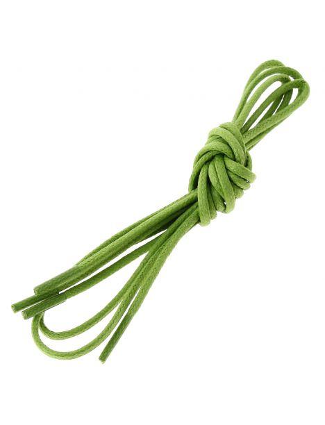 lacets ronds coton ciré couleur vert anis Les lacets Français Lacets