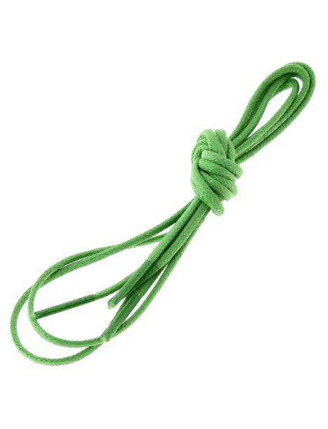 lacets ronds coton ciré couleur vert pastourelle Les lacets Français Lacets