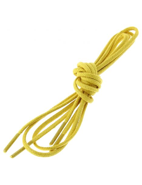 lacets ronds coton ciré couleur jaune bouton d or Les lacets Français Lacets