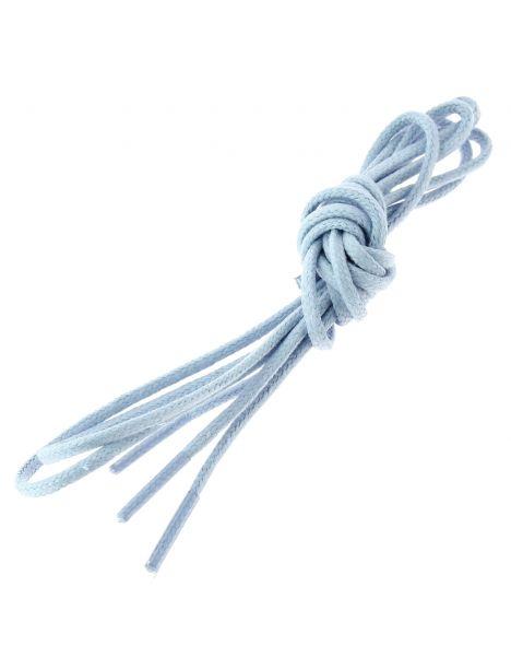 lacets ronds coton ciré couleur bleu ciel Les lacets Français Lacets