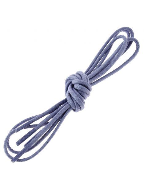 lacets ronds coton ciré couleur bleu pensée Les lacets Français Lacets