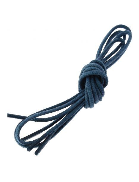 lacets ronds coton ciré couleur bleu artic Les lacets Français Lacets