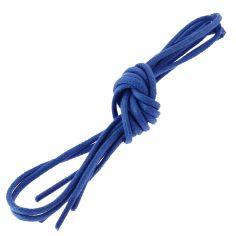 lacets ronds 2mm, coton ciré, bleu blason
