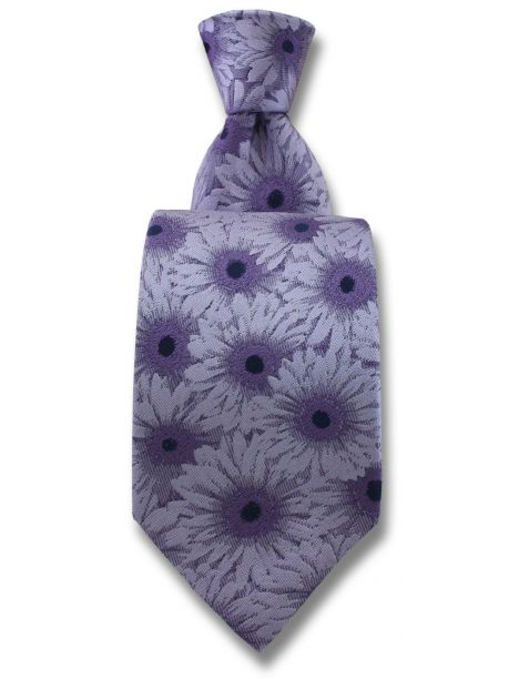 Cravate Robert Charles Gerbera Lilas Robert Charles Cravates