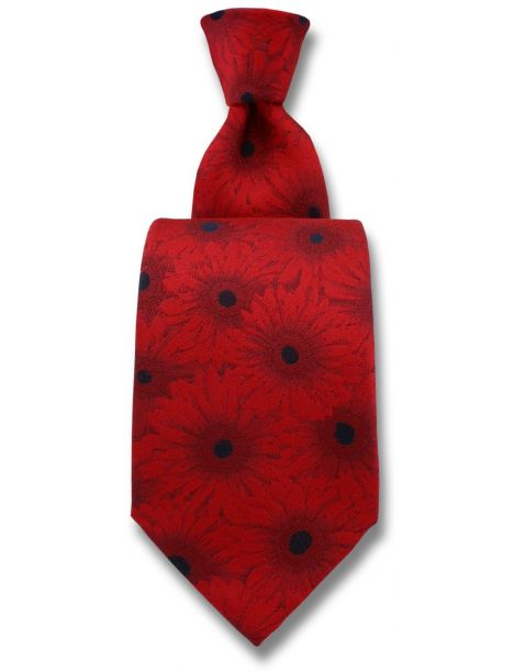 Cravate Robert Charles Gerbera rouge Robert Charles Cravates