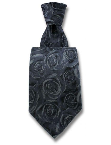 Cravate Robert Charles Rose grise