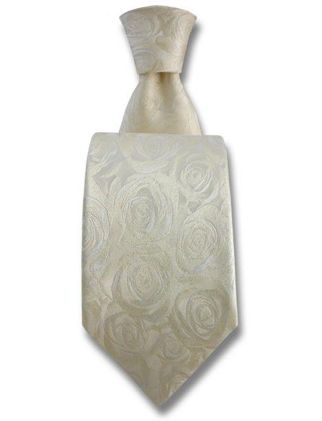 Cravate Robert Charles Rose ivoire