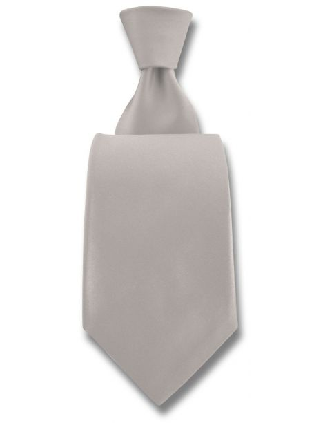 Cravate Robert Charles Satin ivoire fines 7.5cm