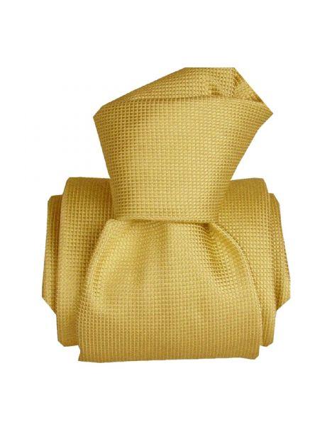 Cravate Classique Segni Disegni pure soie, Liguria jaune Segni et Disegni Cravates