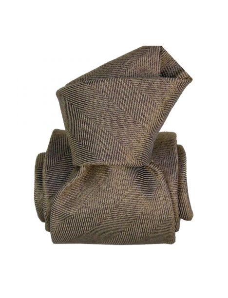 Cravate Segni Disegni LUXE, Faite main. Acireale Marron Segni et Disegni Cravates