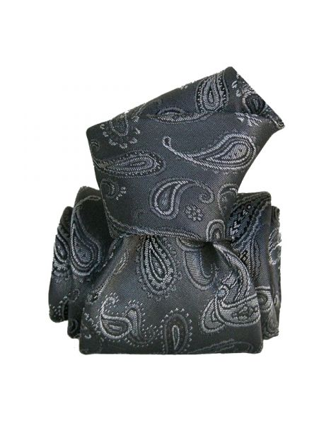Cravate Segni Disegni LUXE, Faite main, Alexandrie gris
