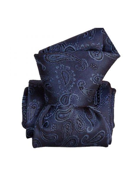 Cravate Segni Disegni LUXE, Faite main, Alexandrie Bleu Segni et Disegni Cravates