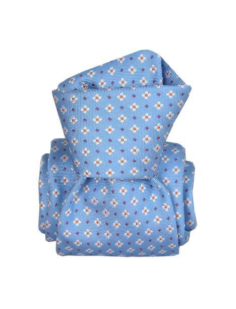 Cravate Segni Disegni LUXE, Faite main, Seville Bleu Segni et Disegni Cravates