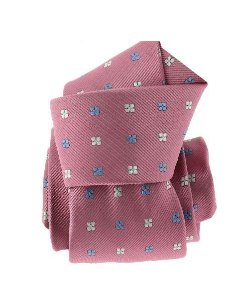 Cravate CLJ, rose, motifs fleurs Clj Charles Le Jeune Cravates