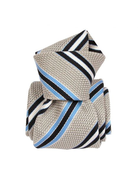 Cravate grenadine de soie, Segni & Disegni, club bleu Segni et Disegni Cravates
