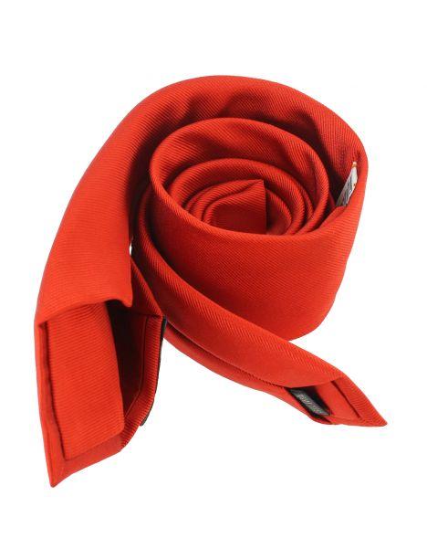Cravate soie 6 plis, Rouge Geraneo, Faite à la main Tony & Paul Cravates
