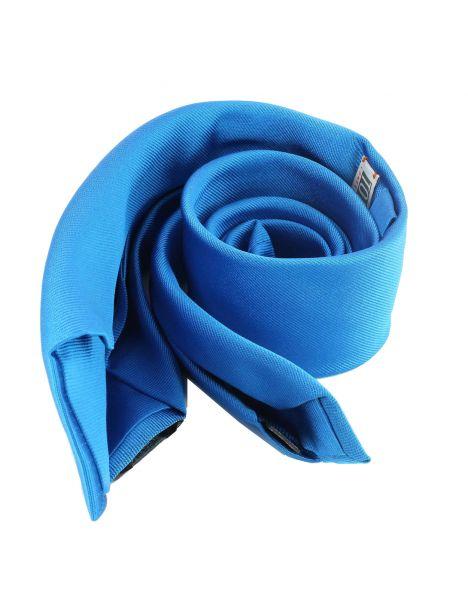 Cravate soie 6 plis, Bleu Cina, Faite à la main Tony & Paul Cravates