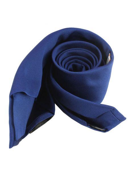 Cravate soie 6 plis, Bleu royal, Faite à la main Tony & Paul Cravates