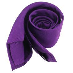 Cravate soie 6 plis, Mauve Mammola, Faite à la main