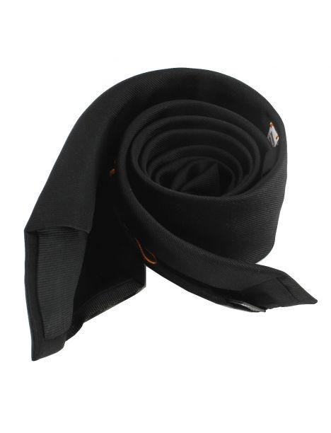 Cravate soie 6 plis, Nero, Faite à la main Tony & Paul Cravates