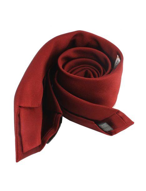 Cravate soie 6 plis, Rouge Peonia, Faite à la main Tony & Paul Cravates