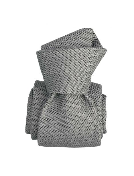 Cravate grenadine de soie, Segni & Disegni, Lucia grigio Segni et Disegni Cravates