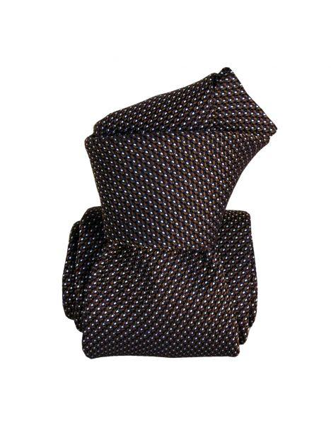 Cravate grenadine de soie, Segni & Disegni, Paris VI, Marron Segni et Disegni Cravates
