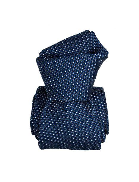 Cravate grenadine de soie, Segni & Disegni, Paris VI, Bleuet Segni et Disegni Cravates