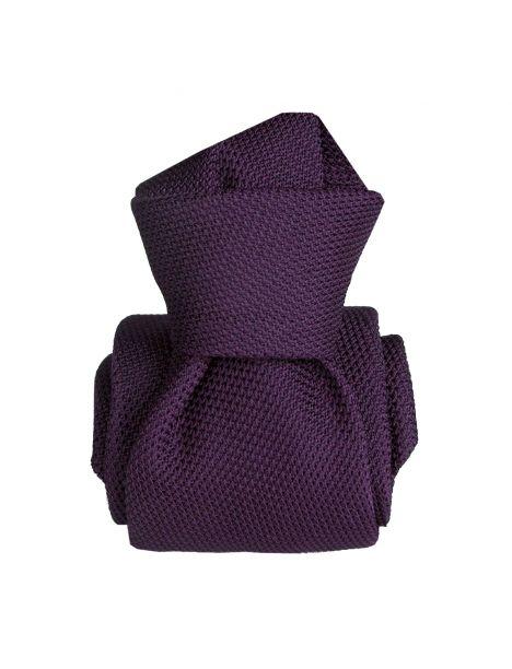 Cravate grenadine de soie, Segni & Disegni, Lucia violet Segni et Disegni Cravates