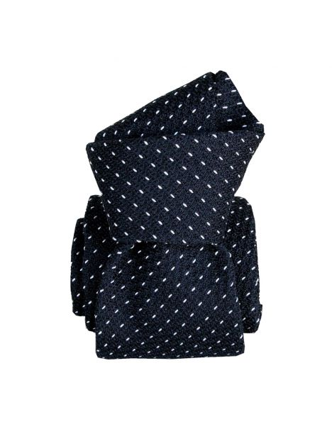 Cravate grenadine de soie, Segni & Disegni, Paris XVI Marine Segni et Disegni Cravates
